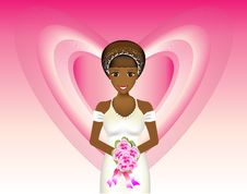 Free Bride With Pink Background Royalty Free Stock Photography - 14044367