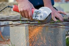 Free Sparks With Metal Grinder Stock Photo - 14044840