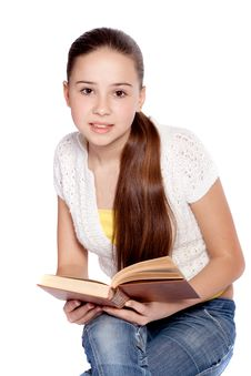 Free Girl Reading Book Stock Image - 14044891