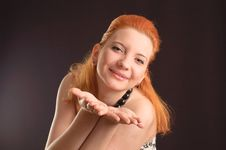 Red-haired Woman Stock Image