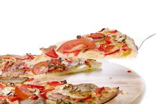 Free Serving Pizza Royalty Free Stock Image - 14045186