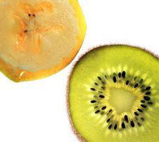 Slices Of Banana And Kiwi Fruit Royalty Free Stock Photo