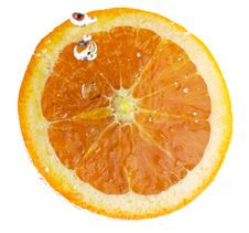 Free Orange Fruit Splash Royalty Free Stock Photo - 14045465