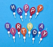 Free Vibrant Happy Birthday Candles Royalty Free Stock Photo - 14045675