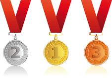 Free Set  Award Ribbons Royalty Free Stock Images - 14045769