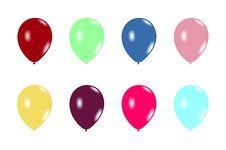 Free Set Balloons Stock Photography - 14046352