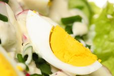 Free Salad With Eggs Stock Image - 14046801