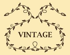 Vintage Template Stock Photography