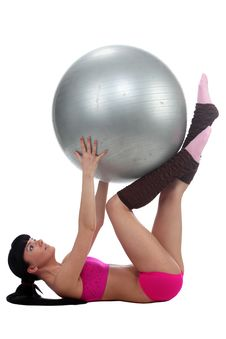 Free Gymnastic With A Ball Stock Photo - 14047230