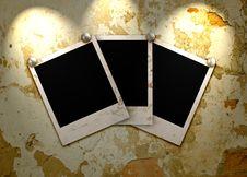 Three Empty Grunge Frame Stock Images
