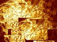 Gold Metallic Background Stock Photography