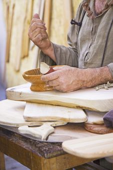 Craftsman Of Wood Stock Photo