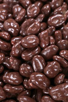 Chocolate Covered Peanuts Royalty Free Stock Image