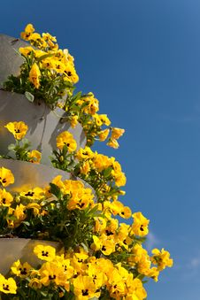 Free Tower With Pansies Stock Image - 14048031