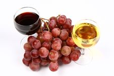 Free White And Red Wine Stock Photo - 14048060