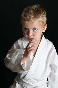 Karate Boy Stock Image