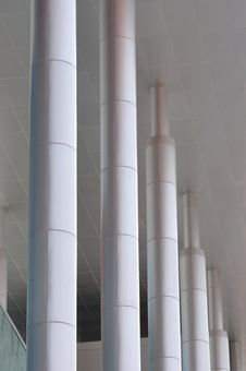 Free Pole As Line Of Modern Building Stock Images - 14048404