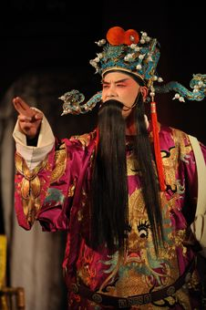 Free China Opera Man With Long Beard Royalty Free Stock Photography - 14048427