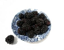 Free Blackberry On The Dish Stock Images - 14048874
