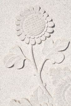 Free The Flower Carve Wall Stock Photo - 14048950