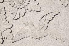 Free The Bird Fly Carve Wall Royalty Free Stock Photos - 14048958