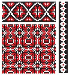 Embroidery Texture Ukrainian Stock Photos