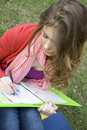 Free Female In The Park Draws Stock Photography - 14053252