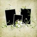Free Grunge Spring Cherry Flowers Frame Royalty Free Stock Photo - 14057155