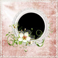 Free Spring Frame With Apple Tree Flowers Royalty Free Stock Image - 14057826