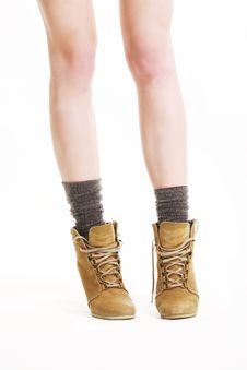 Free Female Feet In Stylish Shoes Stock Photo - 14050080
