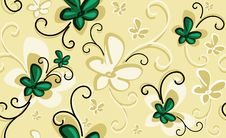 Background With Emerald Flowers Royalty Free Stock Image