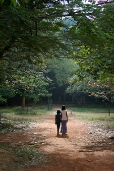Free Strolling Girls Stock Image - 14050731