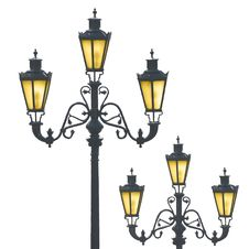 Free Decorative Street Lamps Stock Image - 14050771