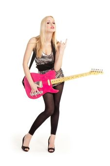 Free Girl With Guitar Stock Image - 14051091
