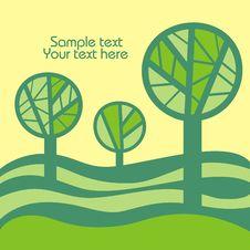 Free Green Trees. Stock Photo - 14051110
