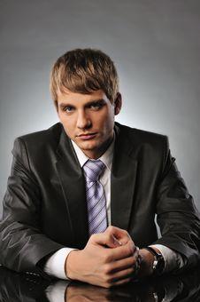 Serious Young Businessman Stock Image