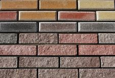 Background Of Colored Tiles Stock Image