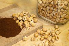 Cocoa And Hazelnuts Royalty Free Stock Photo