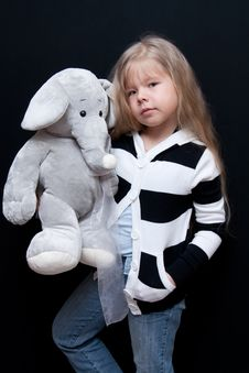 Free Little Girl With Elephant Royalty Free Stock Images - 14052939
