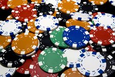 Free Casino Chips Royalty Free Stock Photo - 14053165