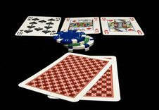 Free Holdem Cards On The Table Royalty Free Stock Images - 14053209