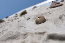 Climbing Wall With Handles Royalty Free Stock Images