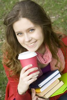 Free Lunch Is A Student In The Park Stock Image - 14053541