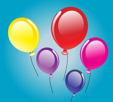 Vector Background With Balloons Stock Photography