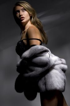 Free Woman In Fur Coat Stock Photography - 14053952