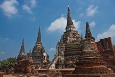 Free Wat Phra Si Sanphet Royalty Free Stock Image - 14054276