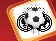 Abstract Football Art Creative Design Royalty Free Stock Images