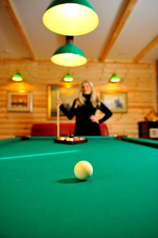 Billiard Table With Balls Ready For Game Royalty Free Stock Photography