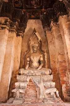 The Buddha Of Wat Chai Wattanaram Royalty Free Stock Photos