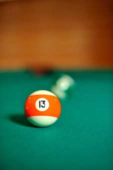 Billiard Ball On The Table Royalty Free Stock Image